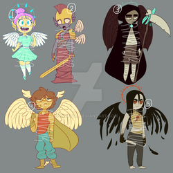 1500 points Angel Adoptables OPEN by ramvur