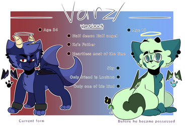 Varz/Various's Ref sheet by Kittencloudy4u
