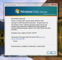 Vista Build 5384 About Windows by Fishy-Fish