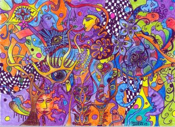 The colored garden by psychedelics