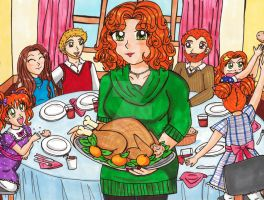 Thanksgiving Day at the O'Clairy Household by Magical-Mama