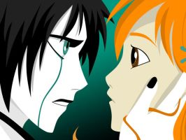 Ulquiorra and Orihime by Rickulein