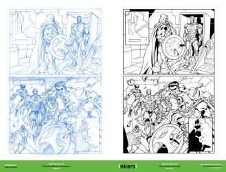 Infinity: Heist #4 Pencil-Inks by rj-gonzalez