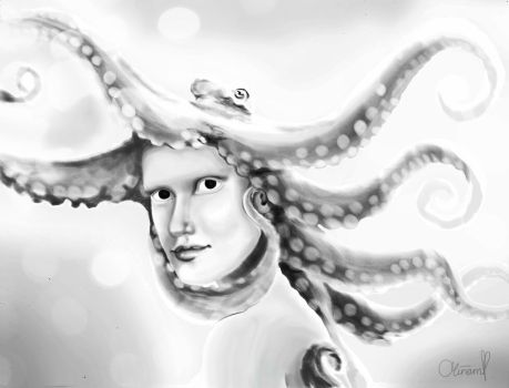Medusa of the deep by LillyLoLigresse