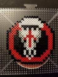 Blackwatch Perler Badge by The-Serene-Mage