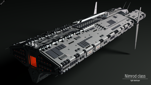 Nimrod class light destroyer by Progenitor89