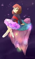 Frisk Tutu Waterfall by DeAl-Right