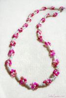 Pink Purity Daisy Necklace by EmilyCammisa