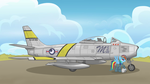 Rainbow Dash's F-86A-5 (plain background) by ColorCopyCenter