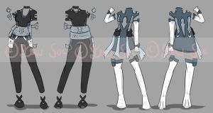Bought Outfit Fitting by JxW-SpiralofChaos