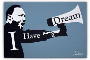 Martin Luther King, Jr. - Dream to reality by deificusArt