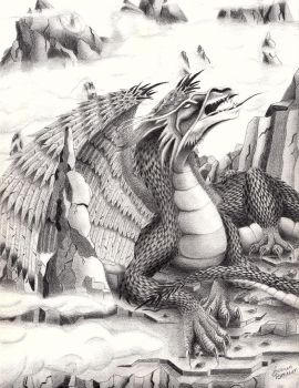 Dragon of the Misty Mountains by AuthenticBeauty1