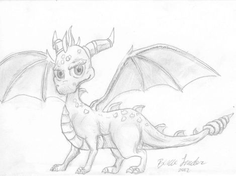 Spyro Sketch by Nikzt