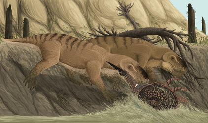 Paleozoic Crab Fishing by TrollMans