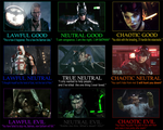 Batman: Arkham Knight Character Alignment by JayZeeTee16