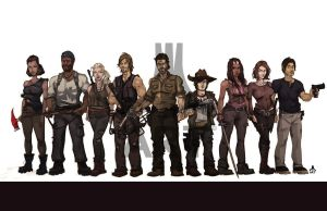 Walking Dead CAST season 4 by jasinmartin