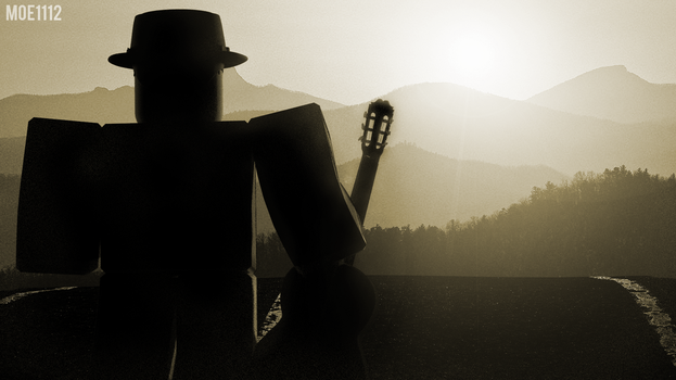 The Guitarist on a journey by MoeRBLX
