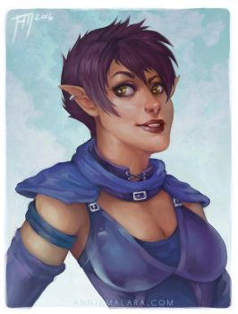 DnD Elf Commission by merely-A