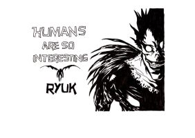 Humans are so interesting - Ryuk by cathy416