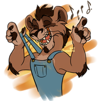Lion Overalls by Blumalou