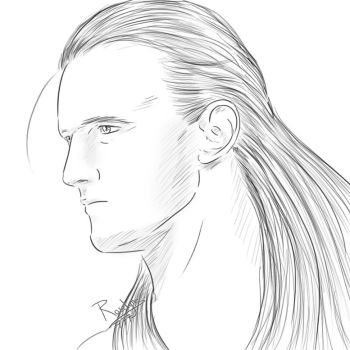 Drew McIntyre - traditional style by Roselyne777