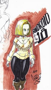 casual android 18 by ScketchtopiA