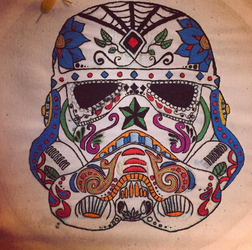 Storm Trooper Sugar Skull Embroidery by DustyVP