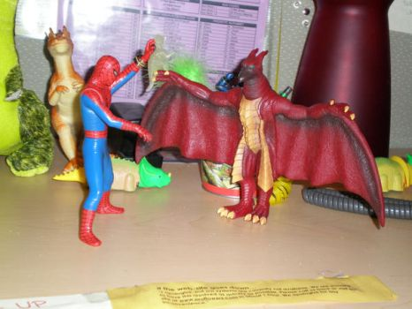 Spider-man vs Rodan by Xenorama