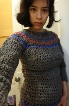 Fair Isle-ish Sweater by Meowkernaut