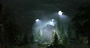 Green Shadow Cave by The-Brade