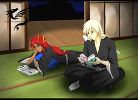 Commission - Tsukiko and Momiji - Quality time by FlyingDragon04
