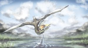 Quetzalcoatlus by SkyTides