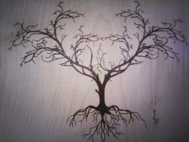 Tree pyrography by matcheslv