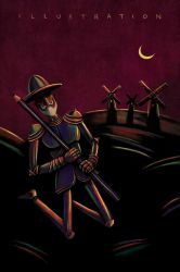 Illustration - Don Quixote by roweig