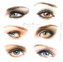 Eyes and make-up ii by dasidaria-art