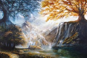 The Trees Of Valinor by Aronja