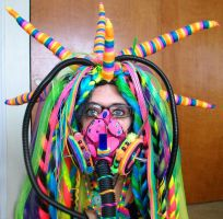 Rainbow cybergoth raver outfit - 4 by German-Blood