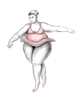 Big beautiful ballerina with lines by zomgbbw