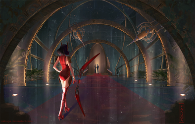 'I found you' Concept I did for a last level base by ZAKUGA