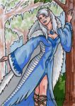 Elf Sketch Card - Spellcasters II by ElainePerna