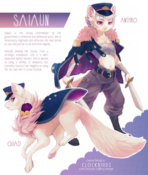character reference: saiaun by clockbirds
