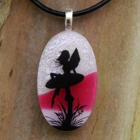 Lounging Fairy Fused Glass by FusedElegance
