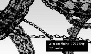 Laces and Chains - 600DPI by screentones