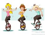 Commission: Unicycle Princesses by Niban-Destikim