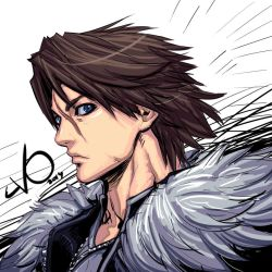 Digital Sketch Warm up 58 - Squall Leonhart by Vostalgic