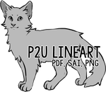 p2u Cat Lineart by nargled