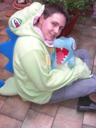 Shiny Totodile Hoodie at Home by invader-gir