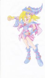 dark magician girl by blackreaper-dusk