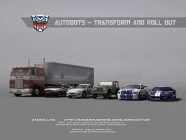 Autobots - Roll out. 3d lineup by rando3d