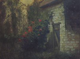 rustic courtyard by dismwork